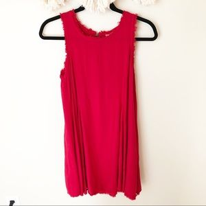 Altar'd State Red Swing Dress with distressed edge